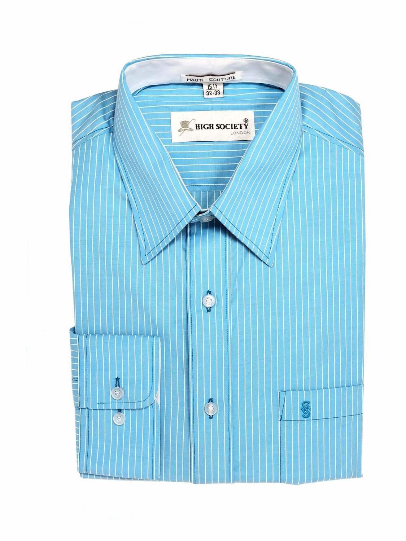 Camisa Azul con rayas