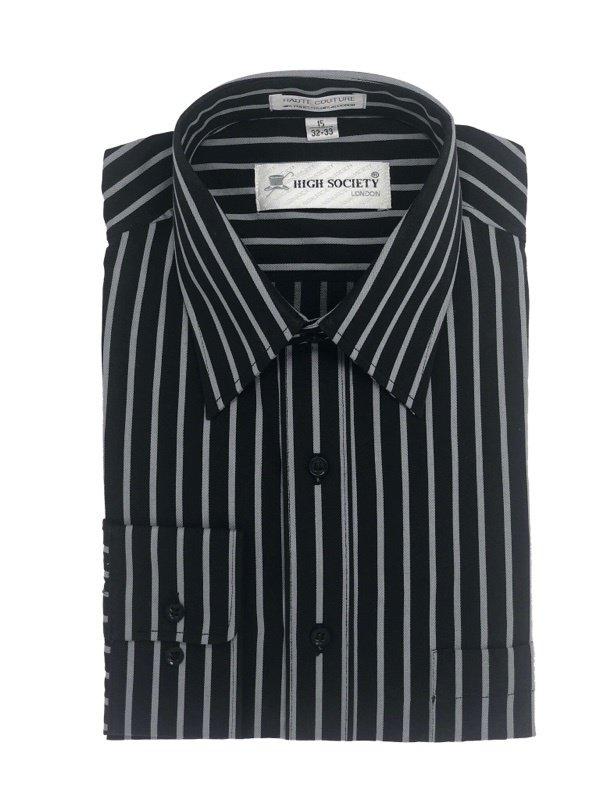 Camisa Negra con Rayas
