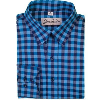 Camisa Slim fit de cuadros Azul