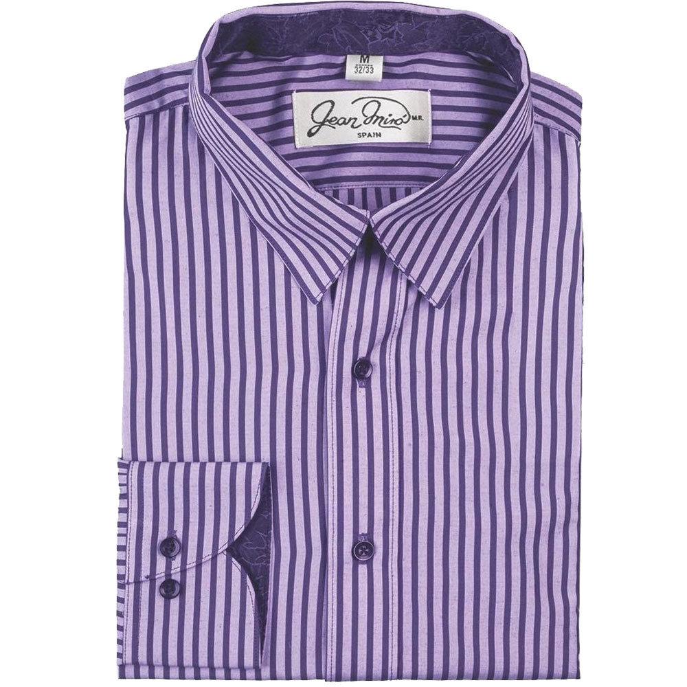 Camisa Slim fit Rayas Morada