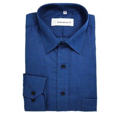 Camisa con puntos azules