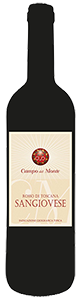 Campo del Monte Rosso di Toscana IGT Sangiovese Organic 2018 from Italy (case of 12 x 750 ml)