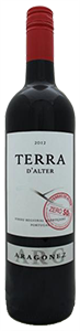 Terra d'Alter Aragonez Zero SO2  2018 from Portugal (case of 12 x 750 ml)
