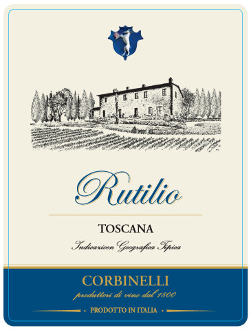 "Corbinelli ""Rutilio"" Super Tuscan Rosso Toscana IGT 2012 from Italy (case of 6)"