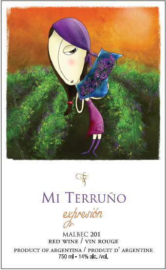 "Mi Terruño ""Expresión"" Malbec 2018 from Argentina (case of 12 x 750 ml)"