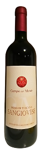 Campo del Monte Rosso di Toscana IGT Sangiovese Organic 2018 from Italy (case of 6)