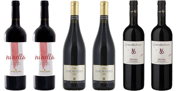 """""""Italian Sweetheart Reds"""" Wine Enjoyment Pack (mixed case of 6)"""