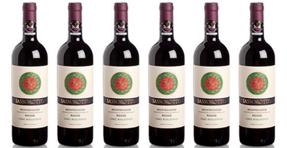 """Le Chiantigiane """"Sassorotto"""" Rosso di Montecucco DOC BIO 2017 // Italy (case of 6)"""