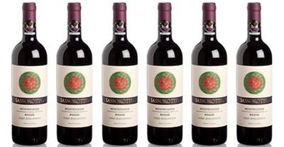 """Le Chiantigiane """"Sassorotto"""" Rosso di Montecucco DOC BIO 2016 // Italy (case of 6)"""