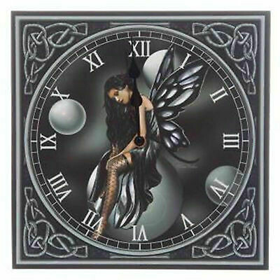 Dark Fairy with Bubbles by Lisa Parker Design Wall Clock