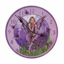 Purple Fairy by Lisa Parker Design Wall Clock