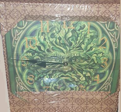 Green Man Wall Clock Lisa Parker