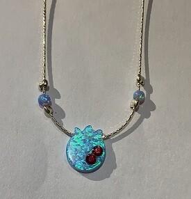 Opal pomegranate necklace