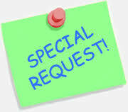 SPECIAL REQUEST SECTION