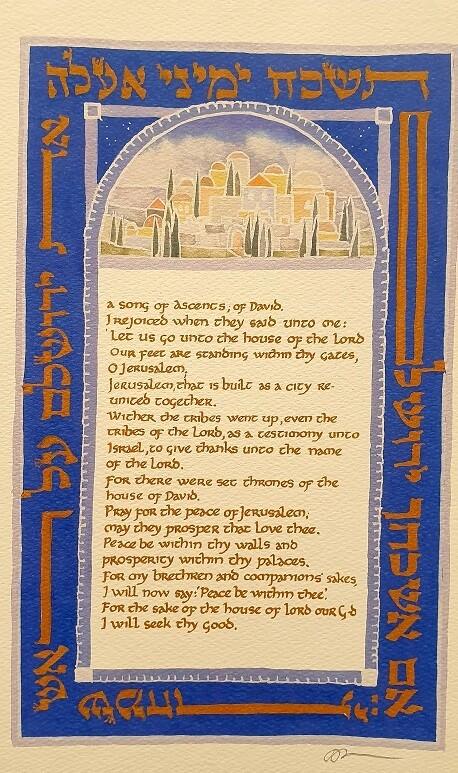 THE JERUSALEM PSALM ( ps 122 )