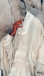 White on White Prayer Shawl