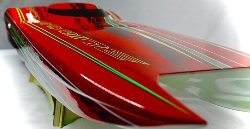 """34"""" MTR X-2 Twin Motor Catamaran Red"""