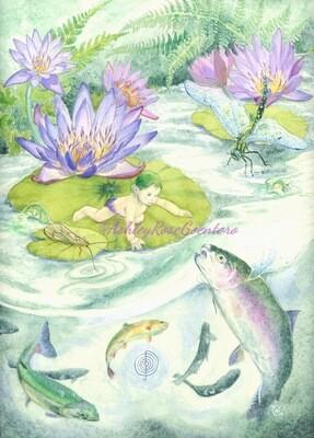 "ON SALE: ""The Waterbabies"" Original Watercolour Painting"