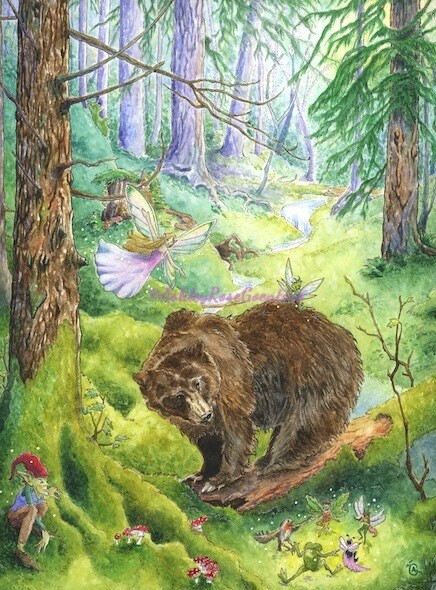 """The Faerie Grove"" Original Watercolour Painting"