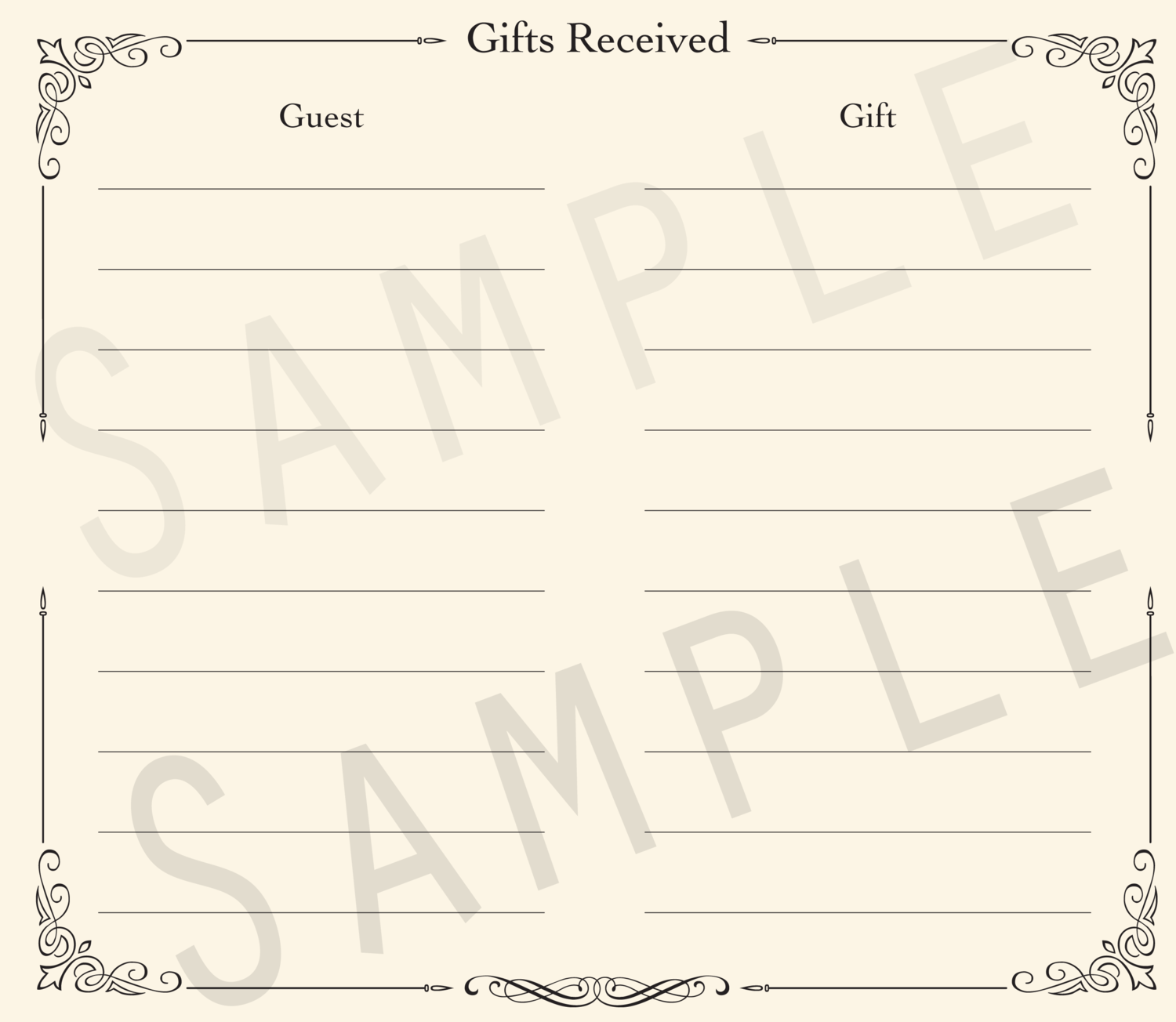 Add-on Collection: Formal Gift Receipt Pages