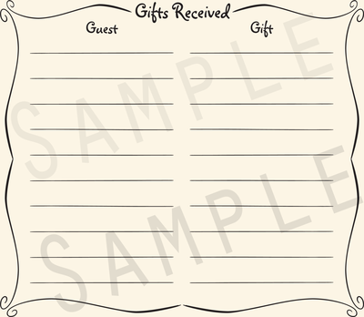 Add-on Collection: Casual Gift Receipt Pages