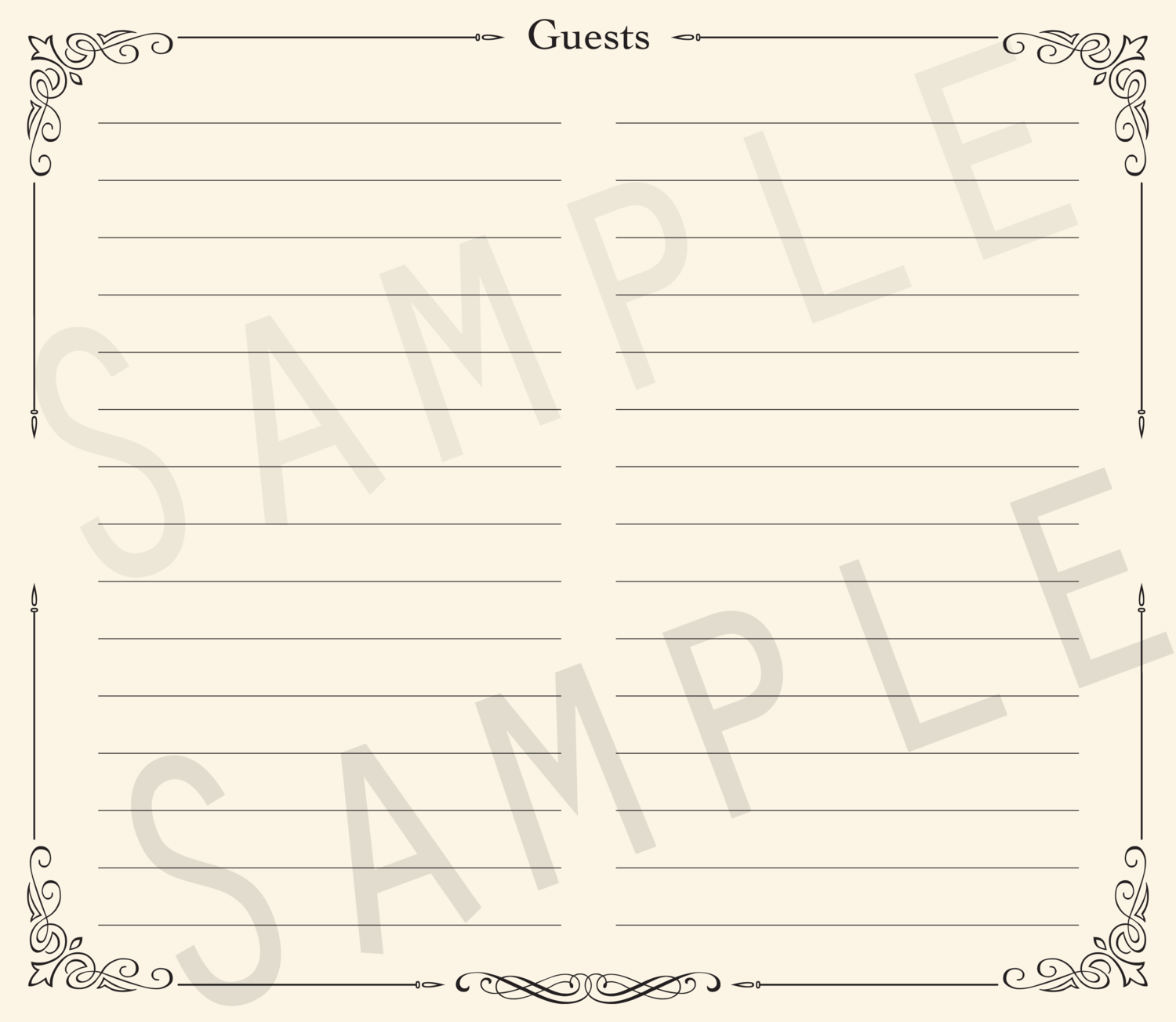 Add-on Collection: Formal Lined Guest Address Pages