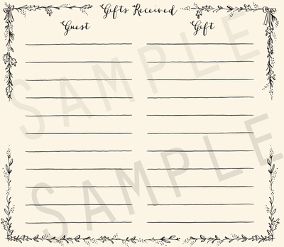 Add-on Collection: Gift Receipt Pages