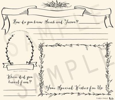 Enchanted Memories Wedding Guestbook