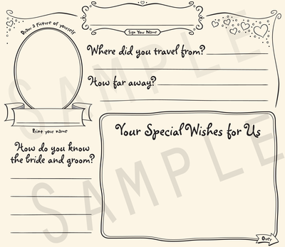 Casual Bride & Groom Memories Wedding Guestbook