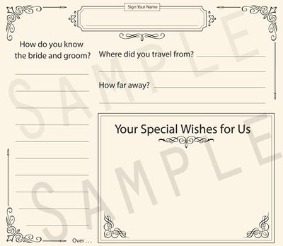 Formal Bride & Groom Predictions Wedding Guestbook