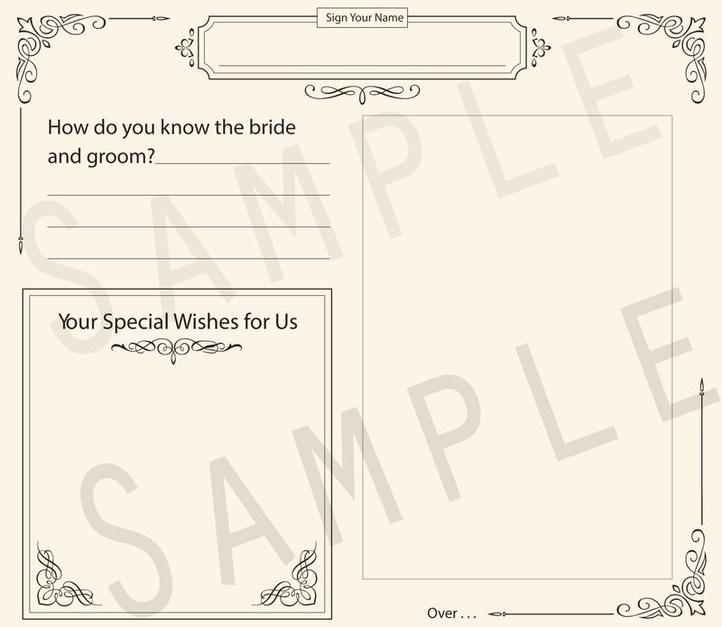 Formal Bride & Groom Photo Predictions Wedding Guestbook