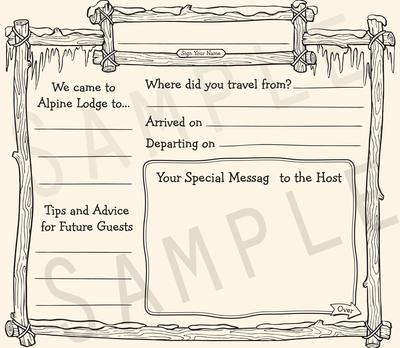 Ski Lodge Guestbook