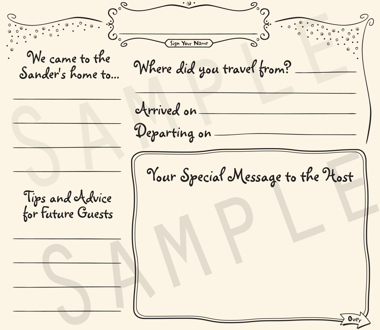 Casual Vacation Guestbook