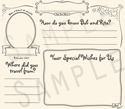 Anniversary Guestbook