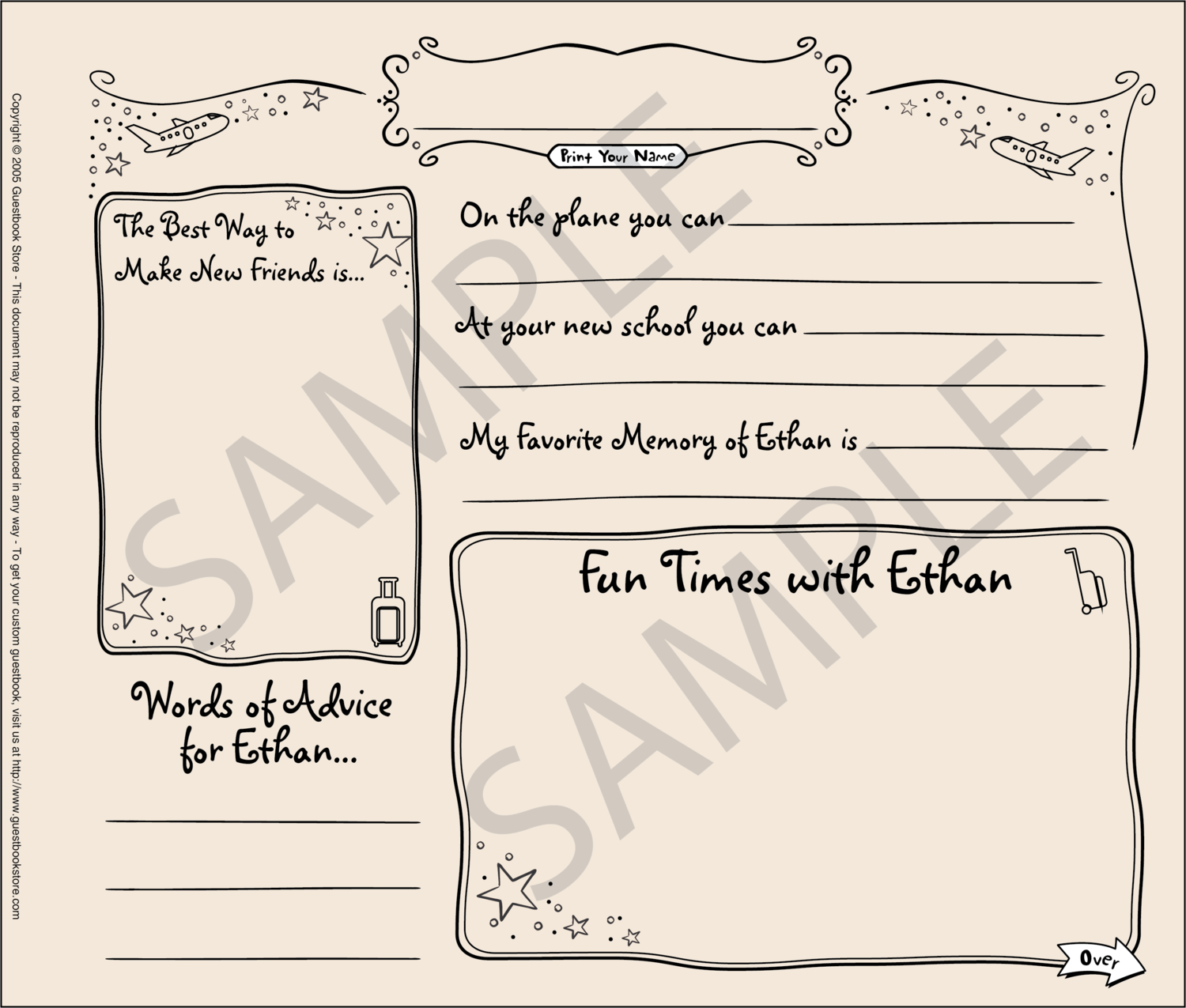Relocation Guestbook