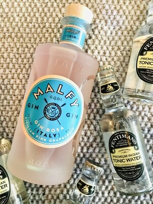 --SOMMER GIN --                    Malfy Gin Rosa 0,7l + Tonic