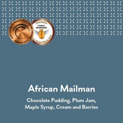 Espressist African Mailman - AICA 2017 Bronze Medal