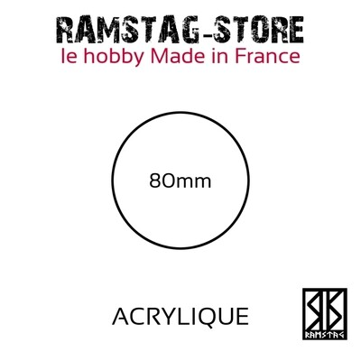 Socle Rond 80mm