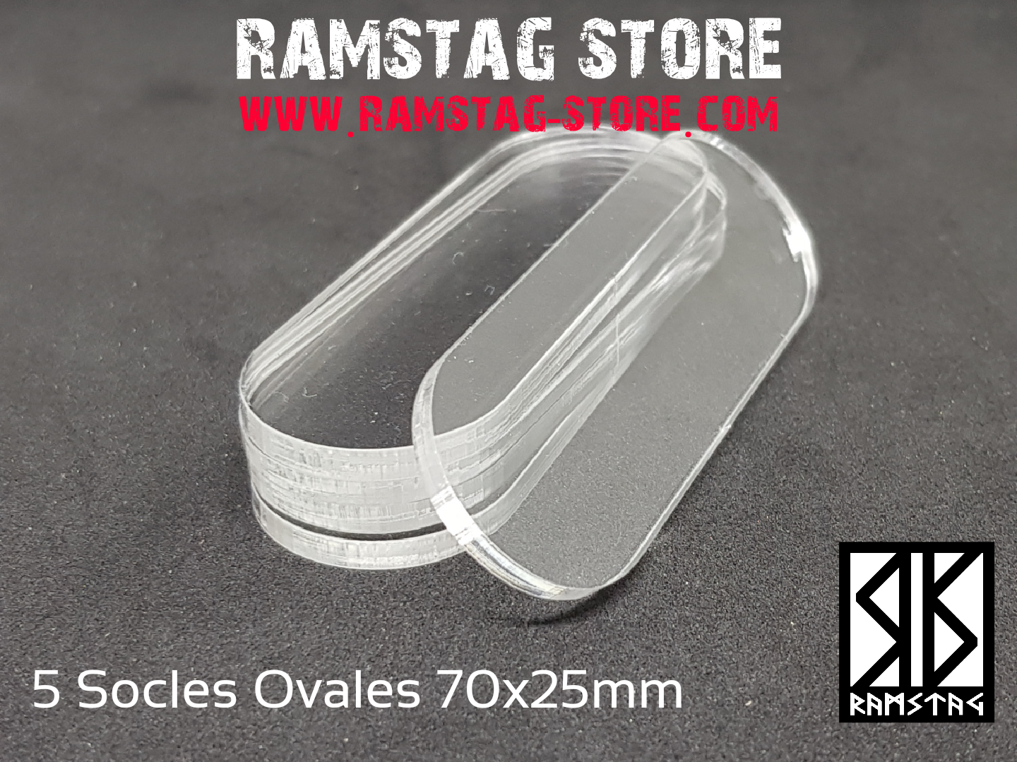 3 Socles Ovales 70x25