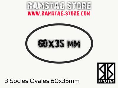 3 Socles Ovales 60x35mm