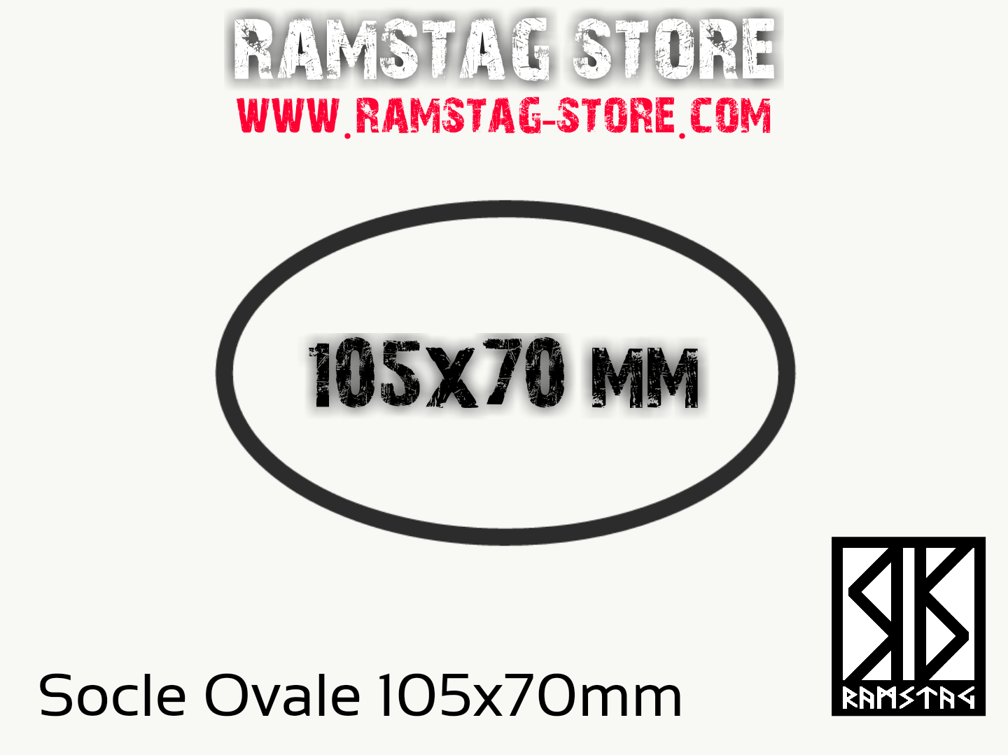 Socle Ovale 105x70mm