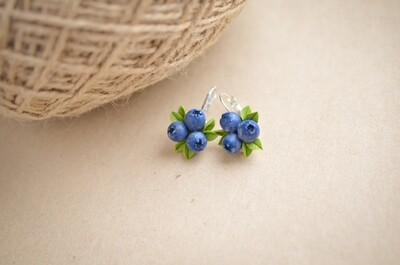 Blueberry earrings, Berries jewelry, Rustic wedding