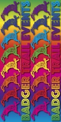 Rainbow Multi Colour Design Badger Scruff