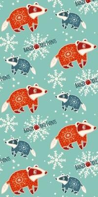 Winter Badger Design Badger Scruff
