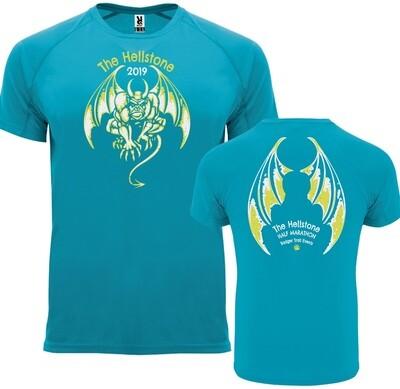 Hellstone 2019 Half Marathon Tshirt Turquoise