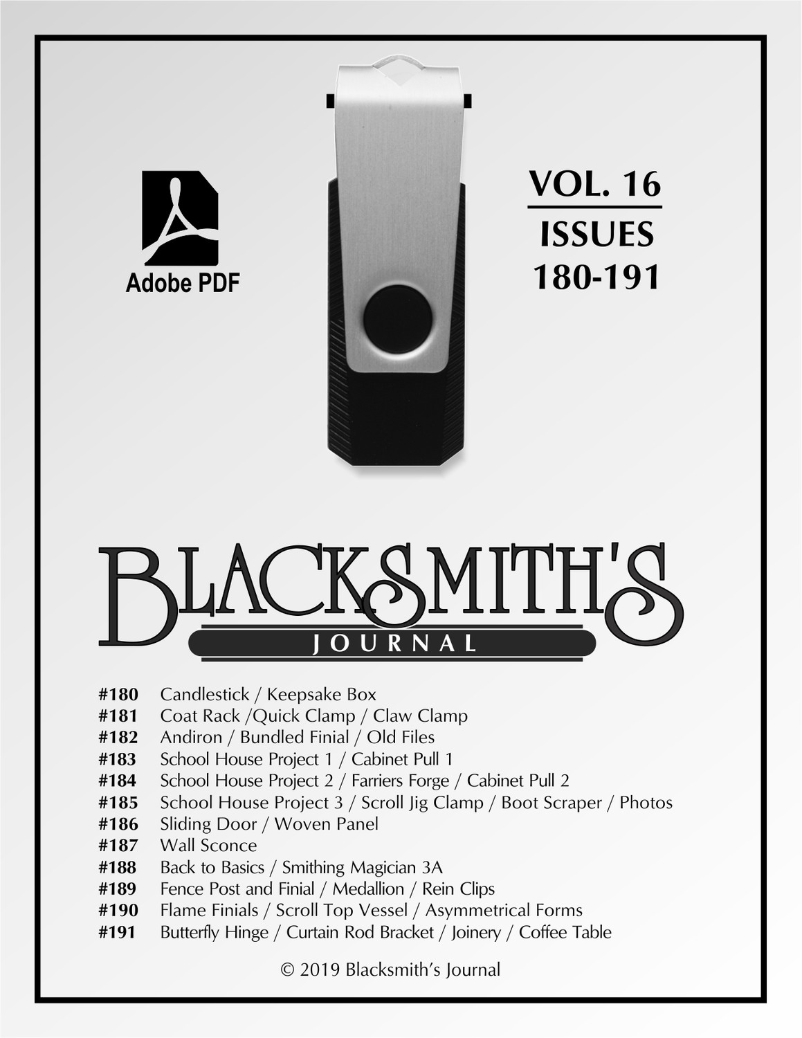 USB Flash Drive - Blacksmith's Journal Vol. 16