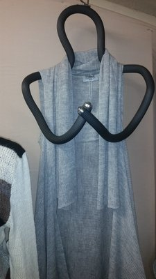 Light Gray Waterfall Vest
