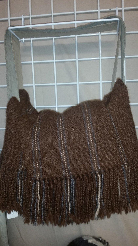 Dark Brown Woven Purse