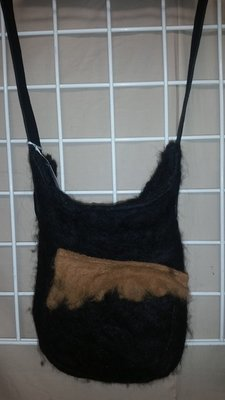 Black with Tan  Felted Purse16