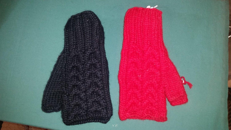 Trenza style fingerless glove